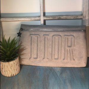 Dior - Trousse Pouch - light gray Velvet